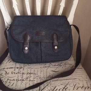 Longchamp shoulder handbag denim fabric.